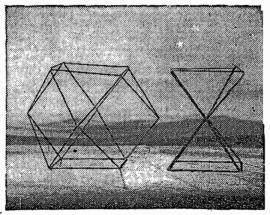 R. Buckminster Fuller, jitterbug tranformation puppet.  New York Times, 6 March 1958.